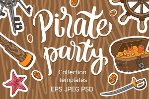 Pirate Party - Birthday templates