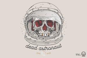 Skull Label - Dead Astronaut
