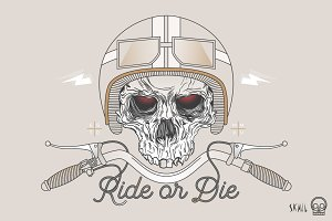Skull Label - Ride or Die