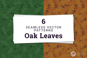 Oak Leaves Vector Pattern