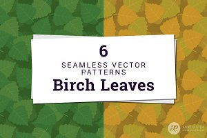 Birch Leaves Vector Pattern