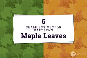 Maple Leaves Vector Pattern