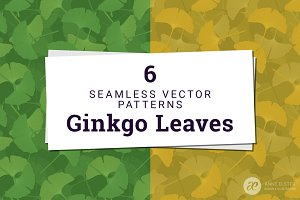 Ginkgo Leaves Vector Pattern