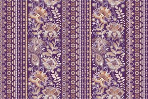 3 Floral Border Patterns