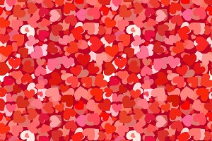 A lot of red and pink hearts pattern