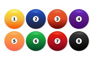Billiard balls - commonly used color
