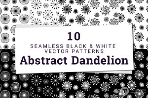 10 Abstract Dandelion Patterns