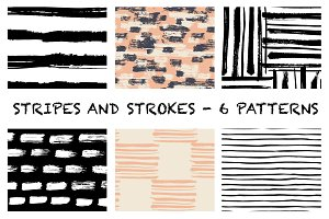 Stripes and strokes patterns