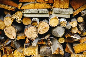 Stack of ready logs