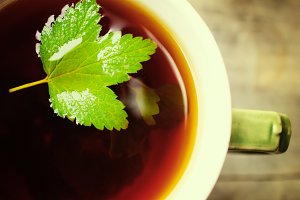 Herbal tea close up