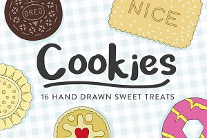 Hand Drawn Cookie Illustrations