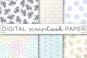 Watercolor Pastel Digital Paper