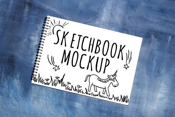 Sketchbook artist mock up PSD