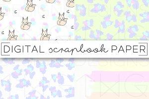 Pastel Leopard Digital Paper