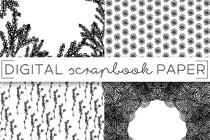 Notebook Doodles Digital Paper