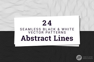 24 Abstract Line Patterns