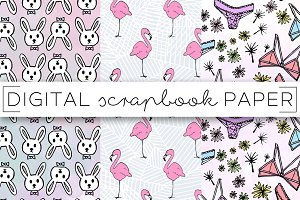 Pink Summer Digital Paper