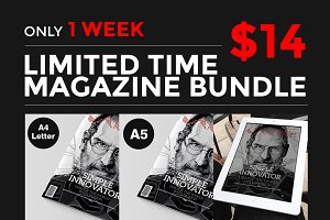 (Save 80%) InDesign Magazine Bundle