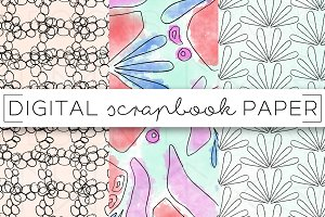 Abstract Florals Digital Paper