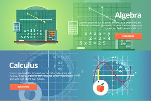 Mathematical Science banner set