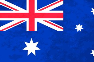 True proportions Australian flag