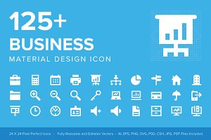 125+ Business Material Design Icons