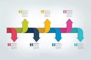Timeline report, scheme, infographic