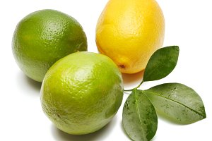 lemon, lime and leaf