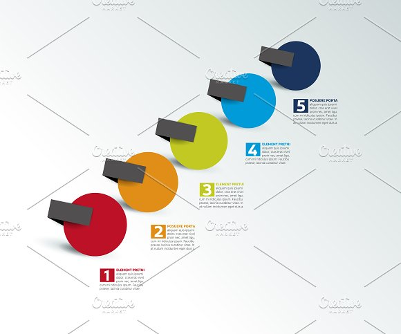 Step by step infographic. timeline. - Presentations