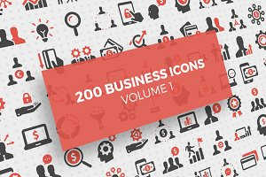 200 Business Icons