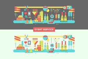 Event service design flat
