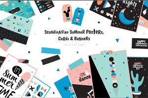 Summer cards & posters & patterns