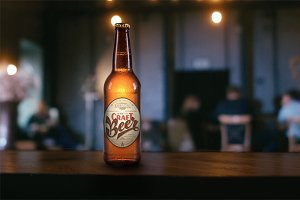 4K video + .psd beer bottle mock-up