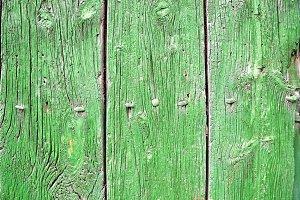 detail of a old green wooden door