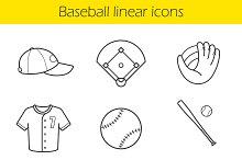 Baseball icons. Vector