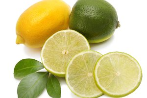lime, lemon and leaf