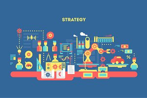 Strategy design flat concept