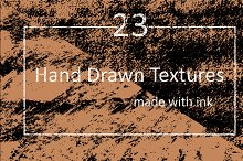 23 Vector Hand Drawn Texture