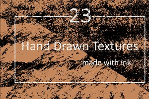 23 Vector Hand Drawn Texture