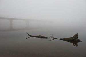Bridge through Dnepr river