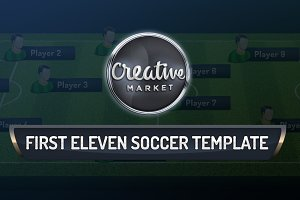 First Eleven Soccer PSD Template