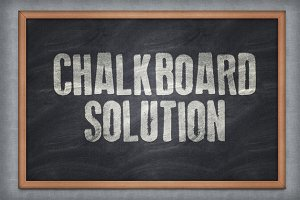 Chalkboard Solution PSD Template