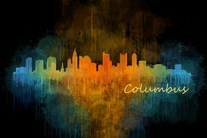 Columbus Ohio Cityscape Skyline v