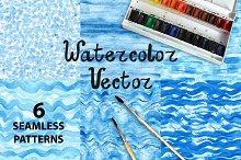 Vector Blue.Watercolor patterns