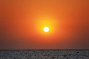 Beautiful orange sunset