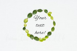 Green leaf styled stock photo linen