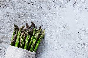 Green fresh asparagus