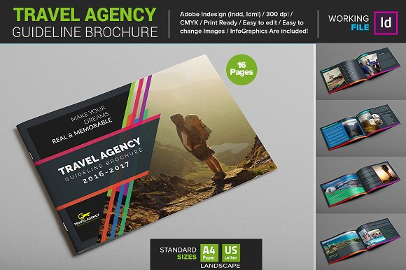 Travel agency guide brochure brochure templates on for Travel guide brochure template