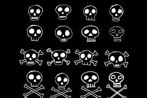 Doodle Skulls Vectors