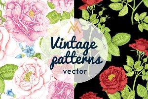 Floral patterns. Roses